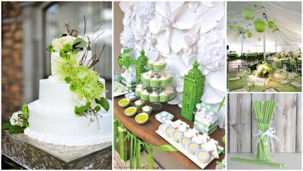 white lime green wedding (5)